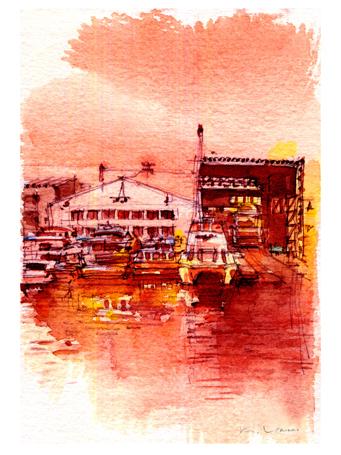 old shipyard on Horikawa Canal