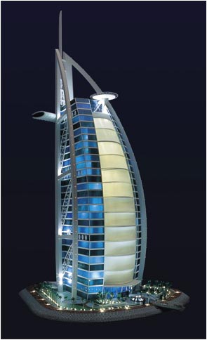 Burj Al Arab. 1: 200. Built for exhibition in Cooper Hewitt Museum NY.