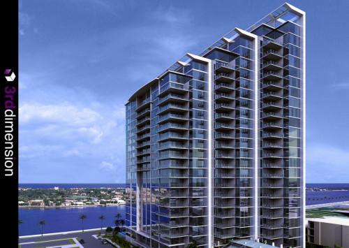 Exterior 3D Render of Condominium Development Florida