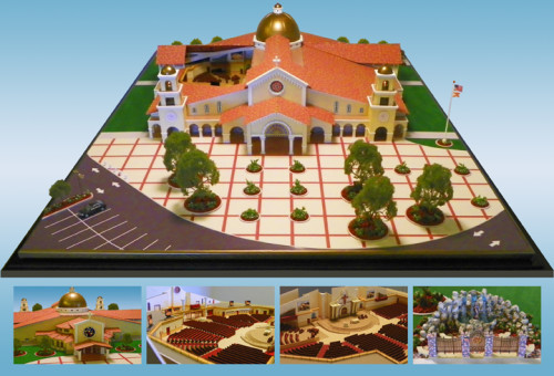 Spanish Mission Style Architectural Scale Model