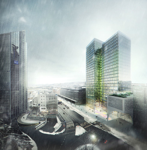 ​Proposal for rehabilitation of the existing Postgirobygget in Oslo, Norway
