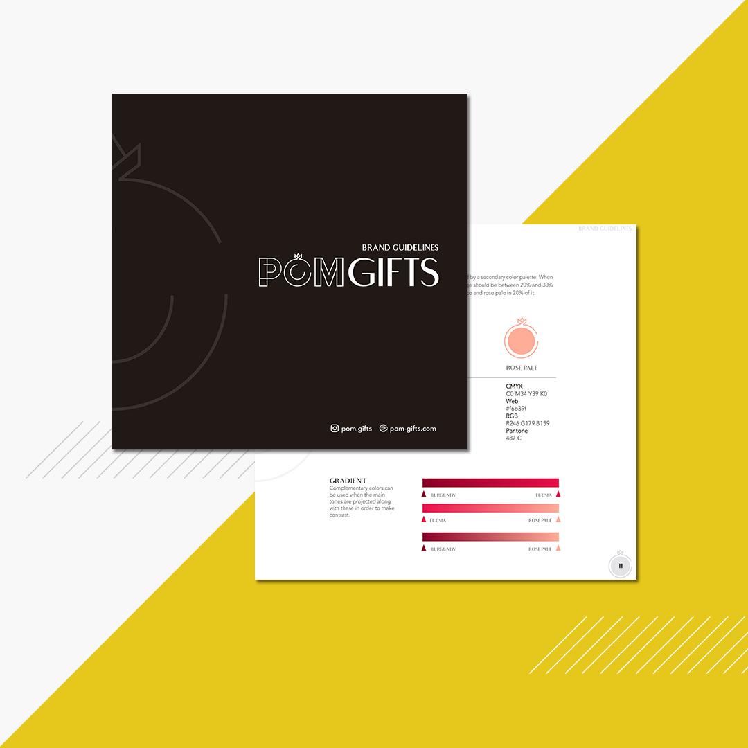 Pom Gifts brandbook