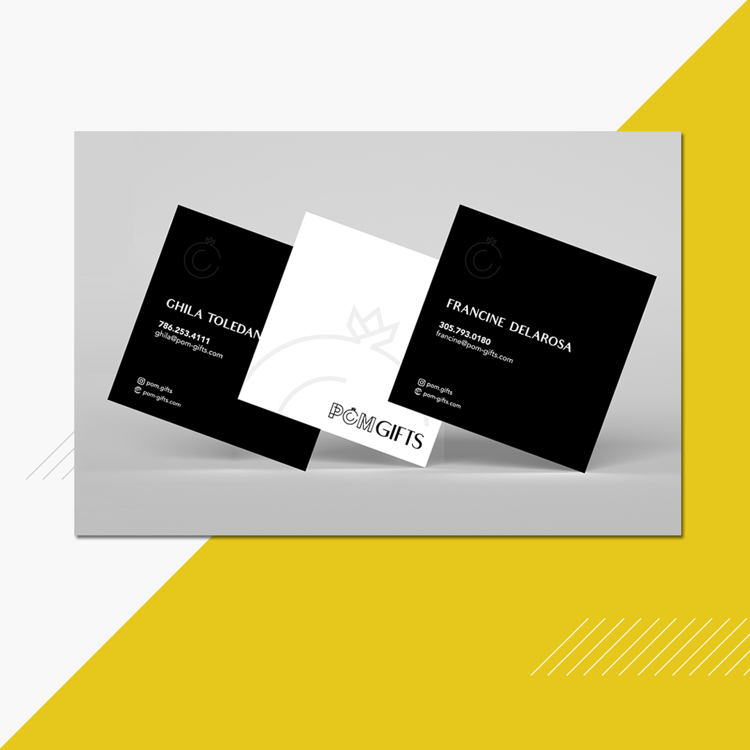 Pom gifts business card