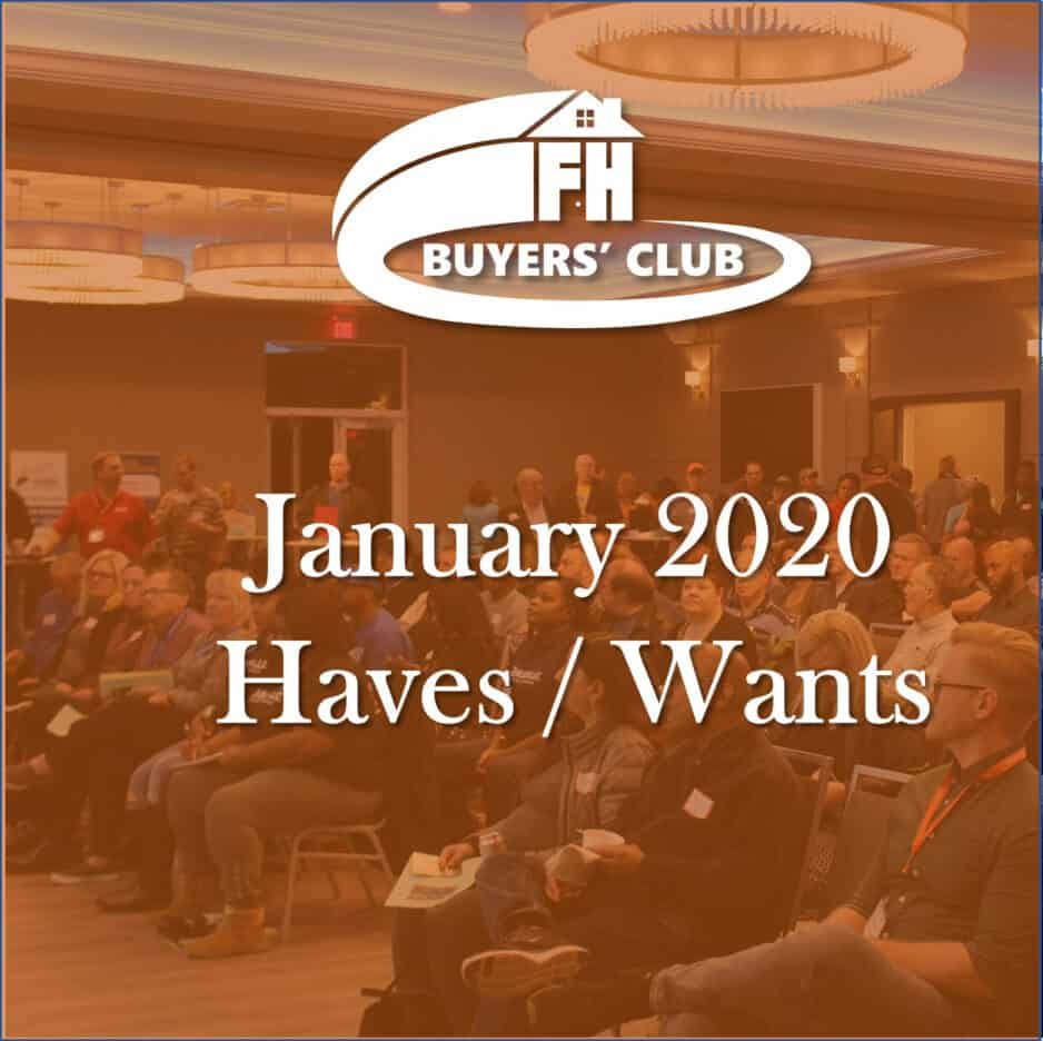 Haves and Wants January 2020