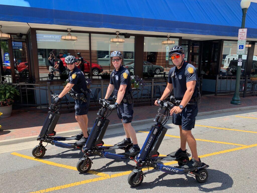 Norfolk Police patrolling on Trikke Interceptors