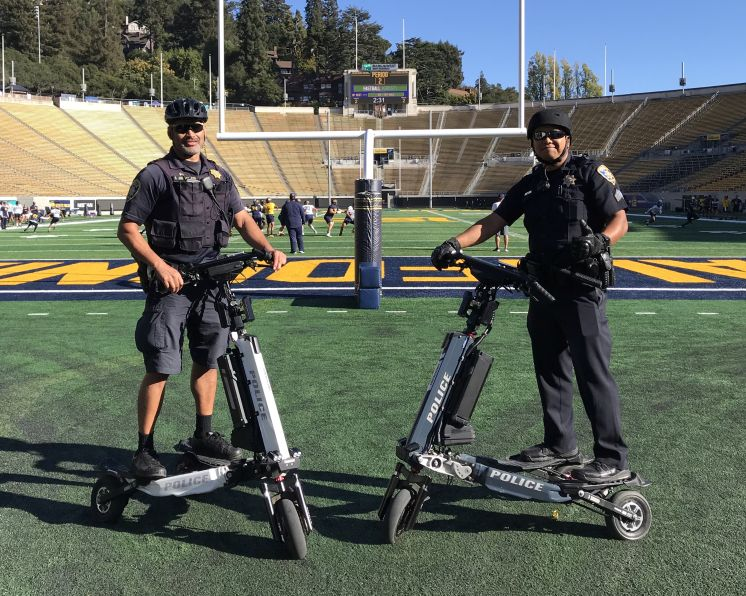 Trikkes on patrol at football stadium