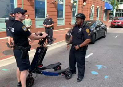 Police Trikke training