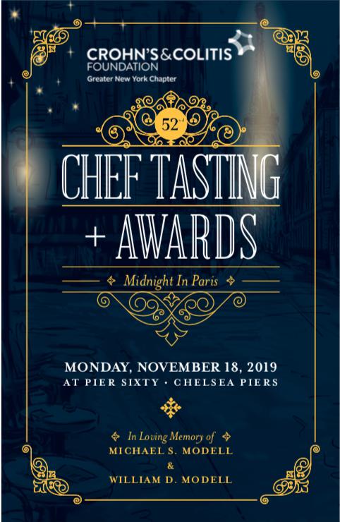 CCF's 52nd Annual Chef's Tasting Invitation - November 18, 2019