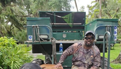 Bore huning on a swamp buggy