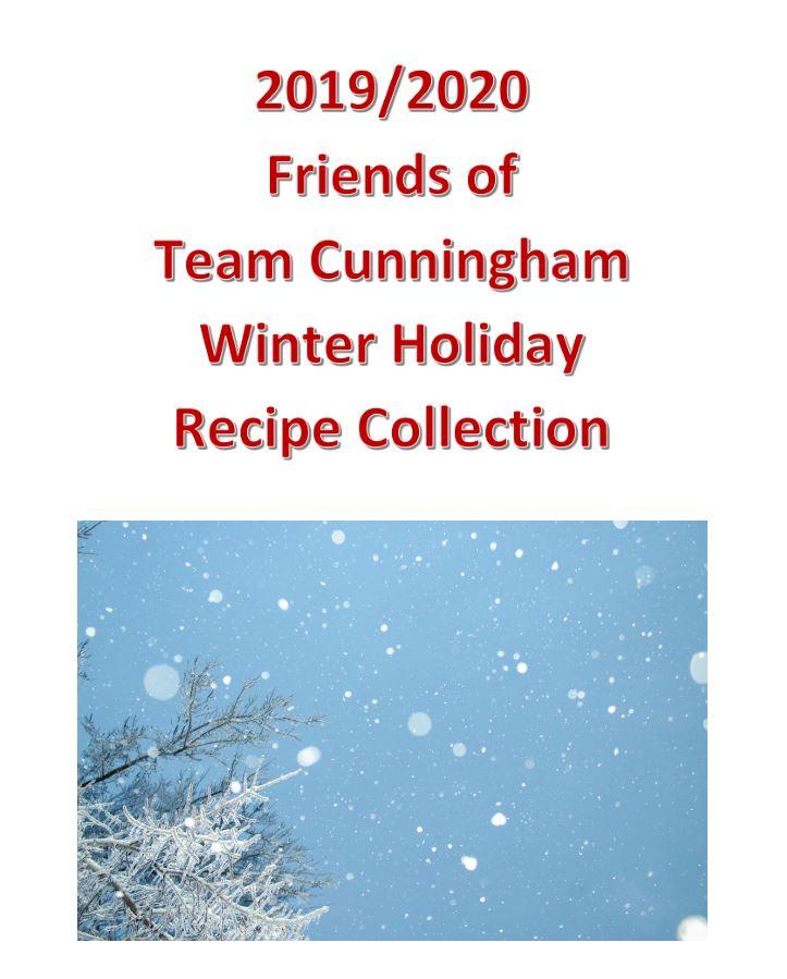 Winter 2019 2020 Recipe Collection Cover