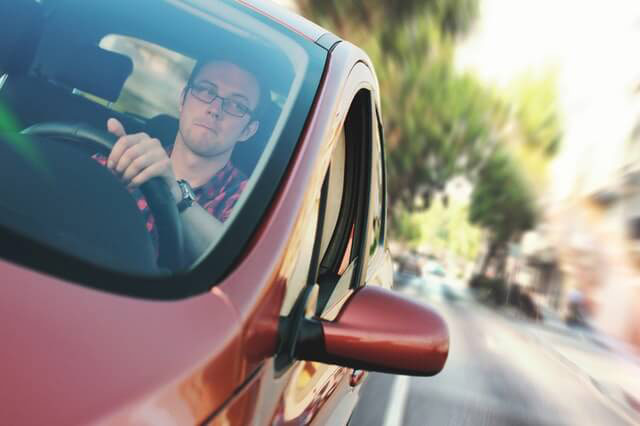 Careful driver who is about to need a Miami car accident lawyer.