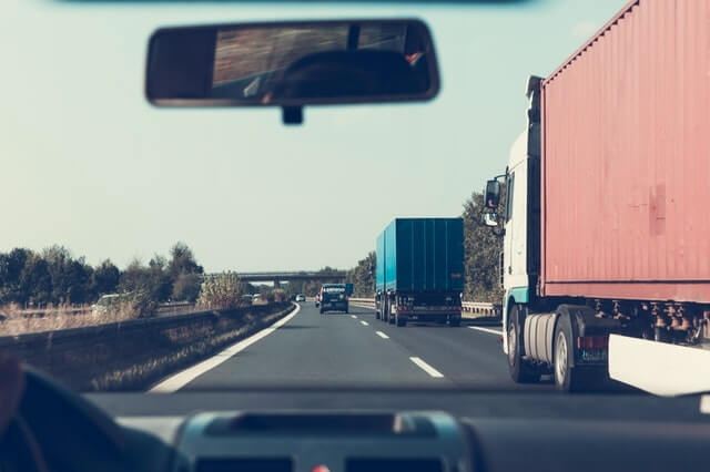 Cars driving before trucking accident lawsuit
