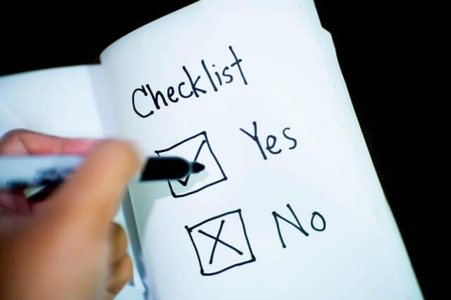 Checklist personal injury case