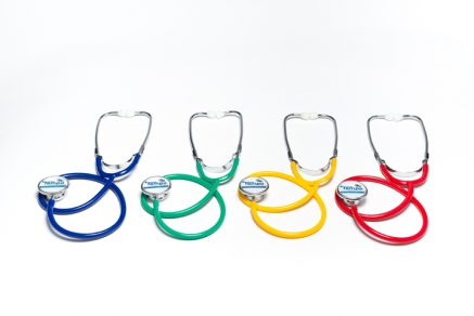Dual head Stethoscopes in the primary colors