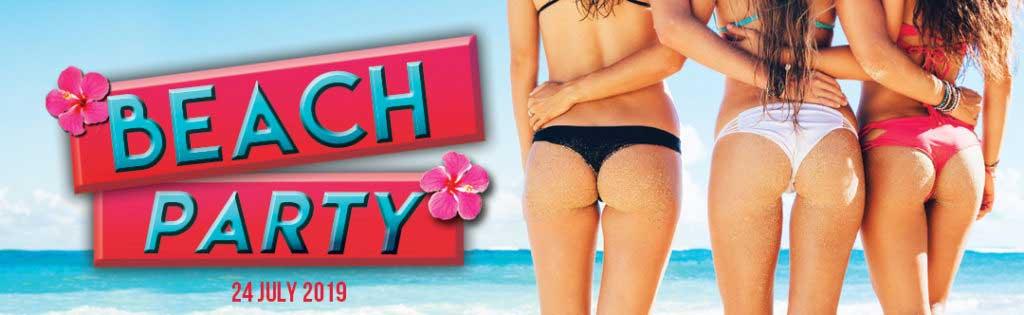 Beach Party Event Flyer PaperMoon Strip Club Washington DC