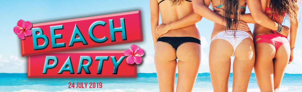 Beach Party Event Flyer PaperMoon Strip Club Washington DC