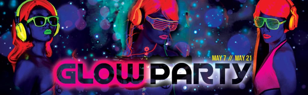 Glow Party Event Flyer PaperMoon Strip Club Washington DC