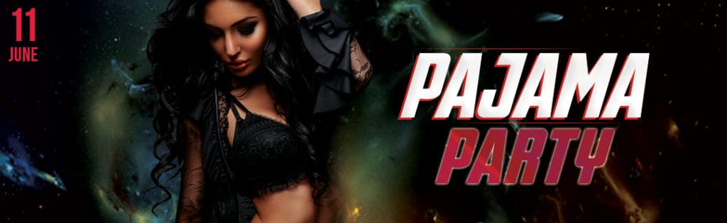 Pajama Party Event Flyer PaperMoon Strip Club Washington DC