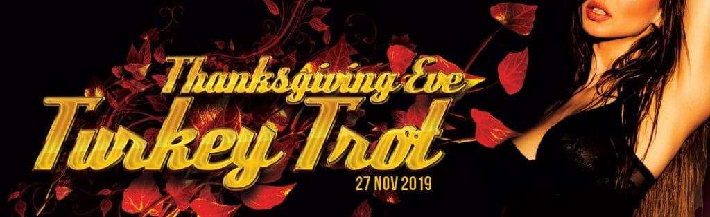 Thanksgiving Eve Turkey Trot Event Flyer Strip Club