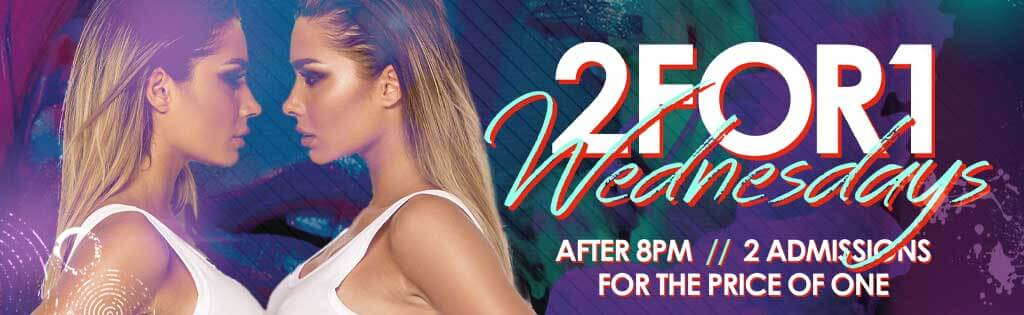 2 For 1 Cover Wednesday Nights after 8pm