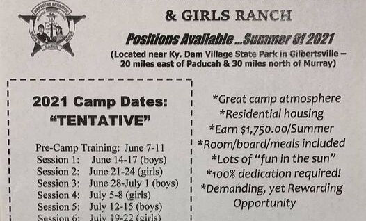 2021 is here and we are preparing for this year's Boys and Girls Ranch.