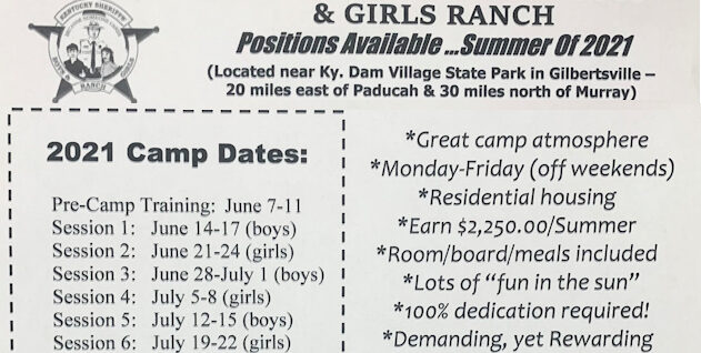 Great summer work opportunity at the KSA Boys and Girls Ranch