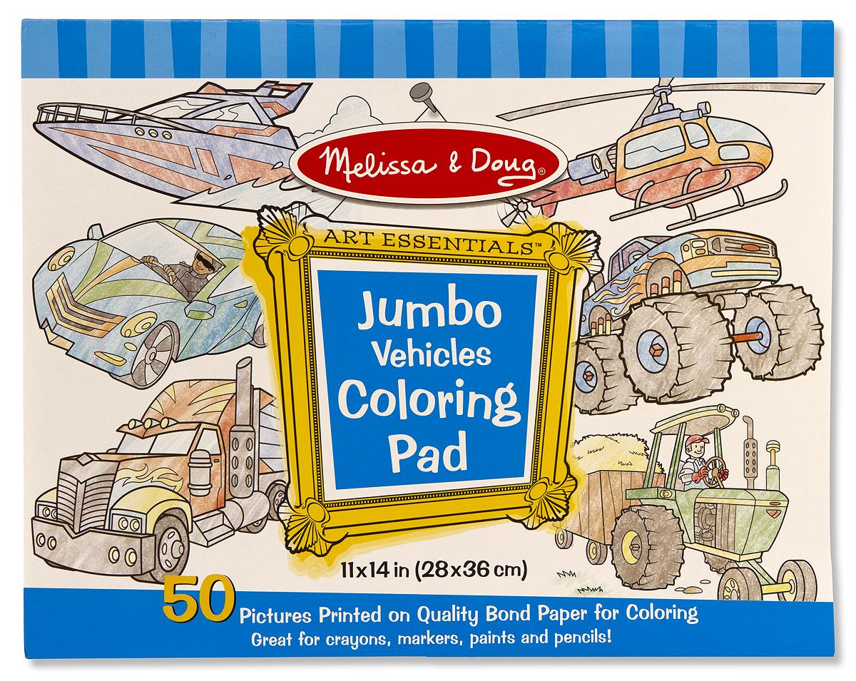 Melissa & Doug Jumbo Coloring Pad – Vehicles – The Littlest Birds