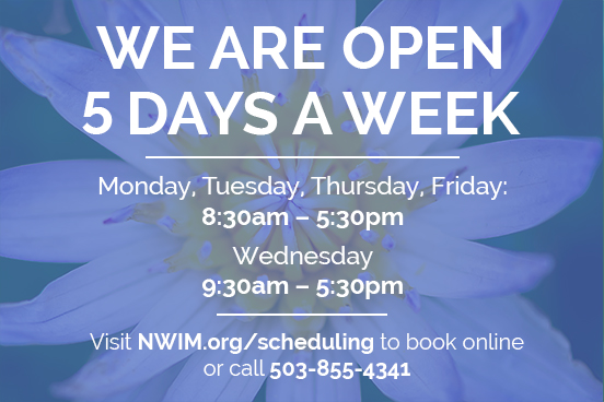 We Are Open 5 Days A Week!
