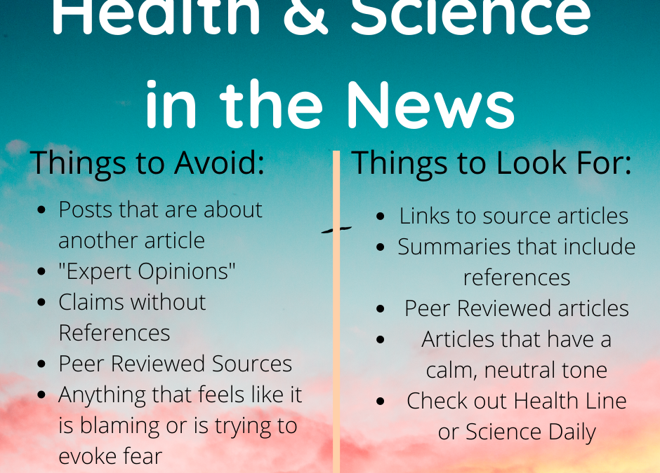 Health in the Medica- How to Find Reliable Sources
