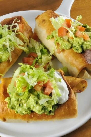 Homemade Chicken Chimichangas