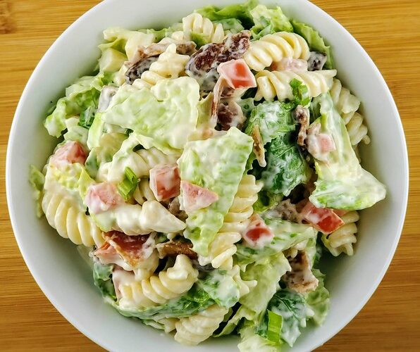 BLT Pasta Salad with Mayo