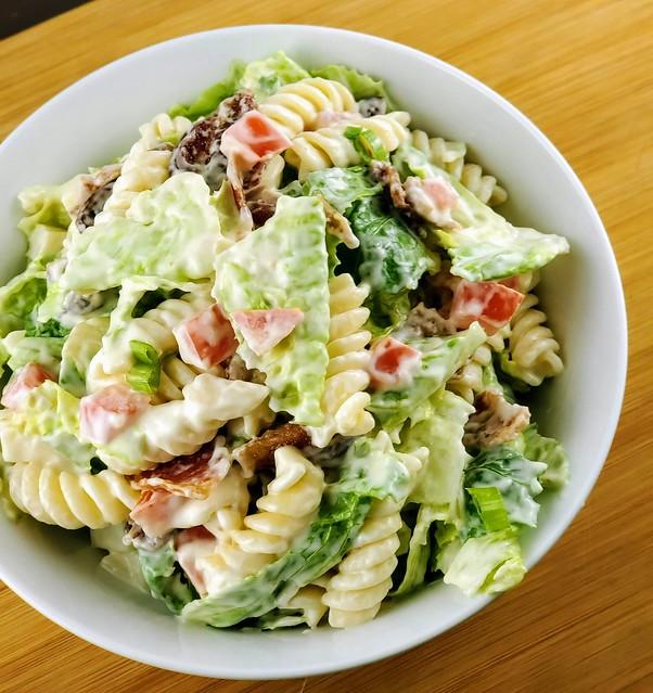 BLT Pasta Salad with Mayo