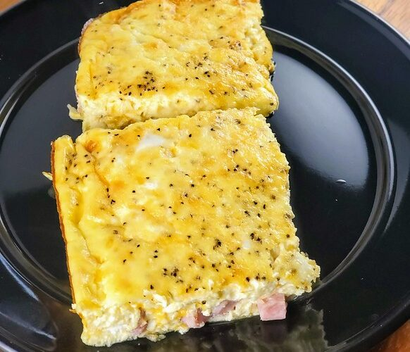 Ham Egg and Cheese Breakfast Casserole without Bread