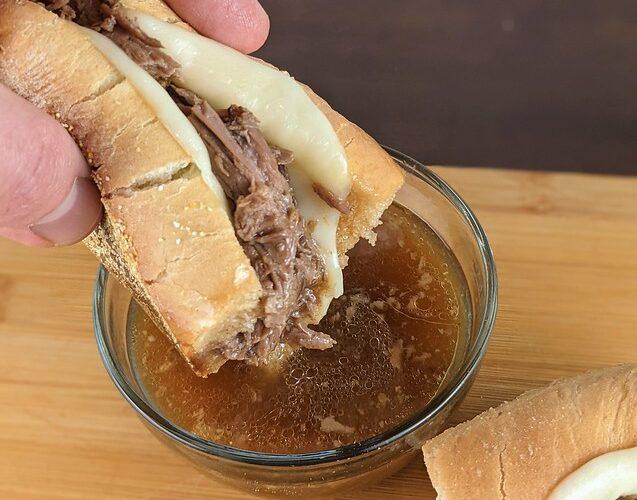 Crockpot French Dip Sandwiches