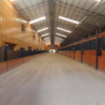 The stable side of the barn.