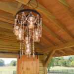 The chapel also features a smaller version of the custom chandelier.
