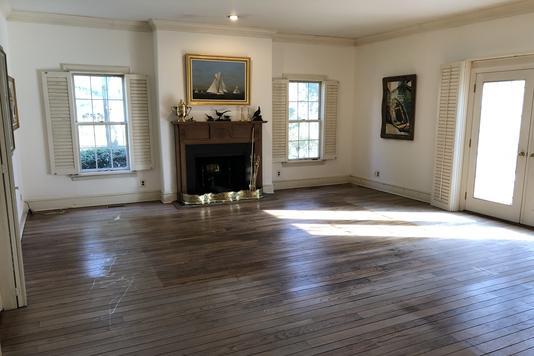 Living Room Hardwood Floor Refinishing