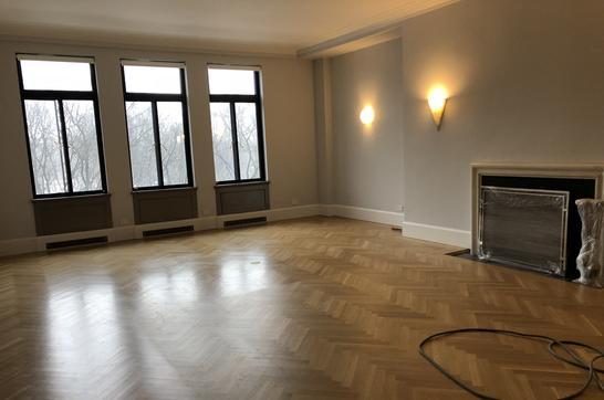 Herrringbone Wood Floor Refinishing