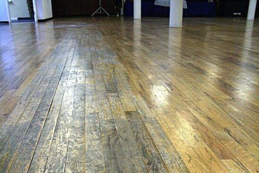 Before Dustless Repair Wood Floor Refinishing