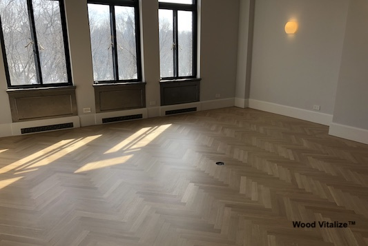 Herrringbone Wood Floor Refinishing