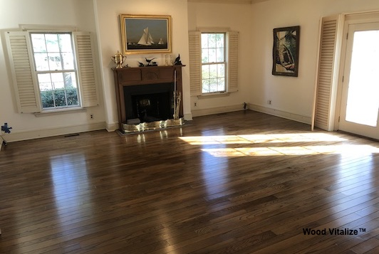Living Room Hardwood Floor Refinishing