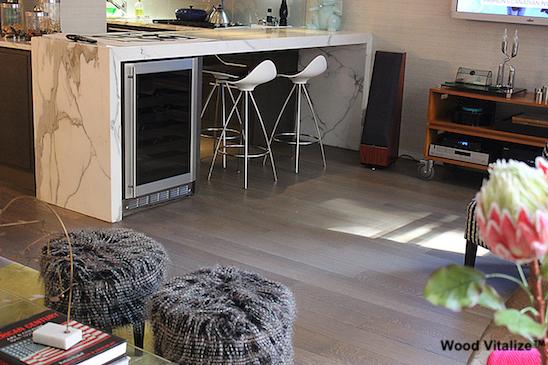 Grey Stain Dustless Wood Floor Refinishing
