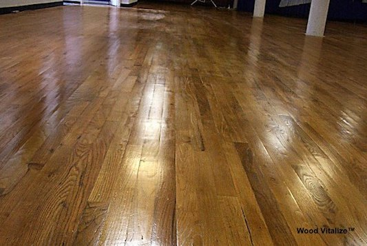After Dustless Repair Wood Floor Refinishing