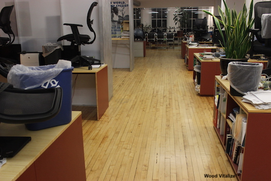 Office Hardwood Floor Refinishing