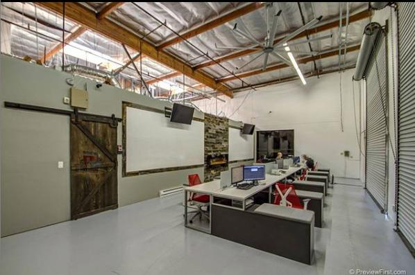 Warehouse industrial office setting