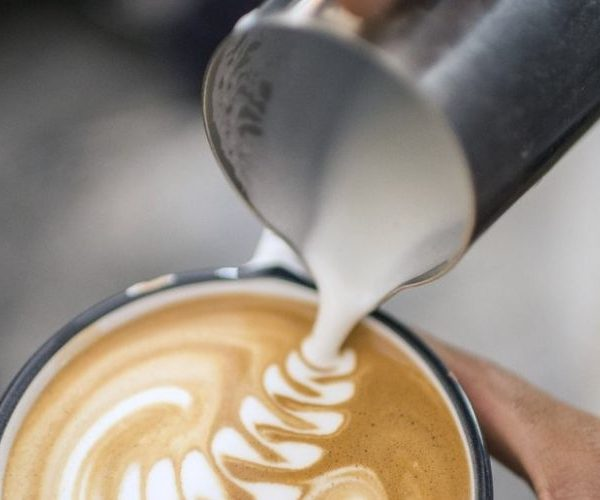 Jarra de leche para arte latte