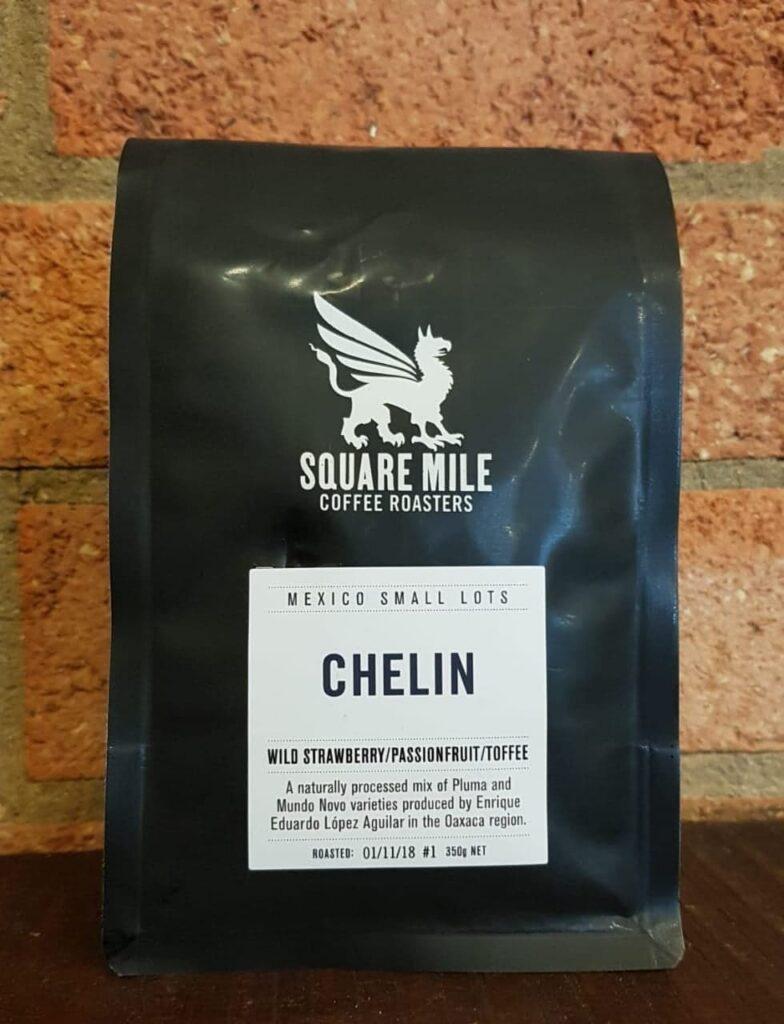 Etiqueta, café, Finca Chelín