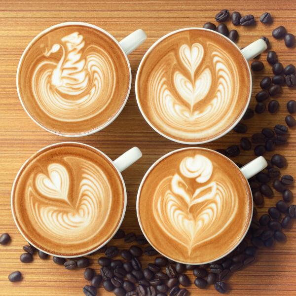 Figuras clásicas del arte latte.