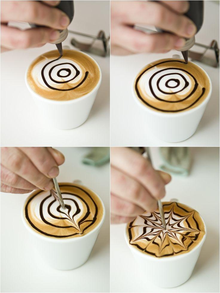 Etching, técnica arte latte.
