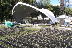 Sadlespan Roof and Stage for outdoor event in DC